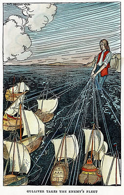 Lilliput Drawing - Gulliver's Travels, C1900 by Granger