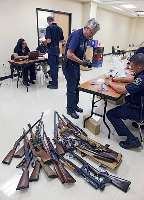 Police Officer Photograph - Gun Amnesty by Jim West