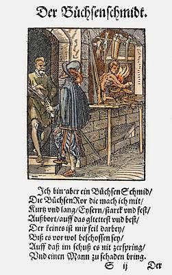 Display Window Painting - Gunsmith, 1568 by Granger