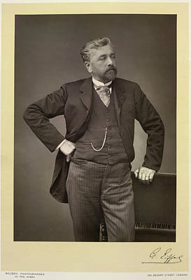Gustave Photograph - Gustave Eiffel by British Library