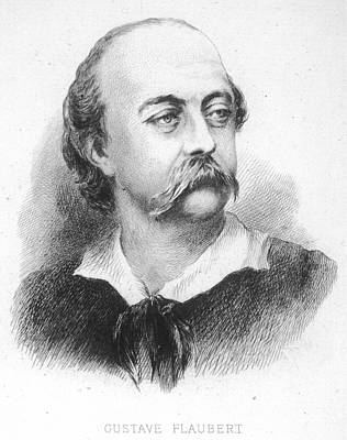 Gustave Flaubert Wall Art - Drawing - Gustave Flaubert -  French Writer by Mary Evans Picture Library