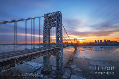 Politicians Royalty-Free and Rights-Managed Images - GW Bridge Long Exposure  by Michael Ver Sprill