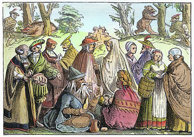 Gypsy Band Painting - Gypsies Telling Fortunes by Granger