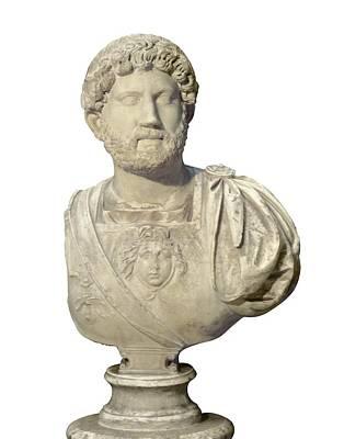 Hadrian 76-138. Roman Emperor 117-138 Art Print