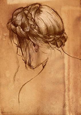 Hair Study Art Print