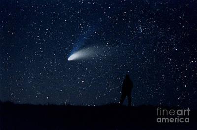 Hale-bopp Comet Photograph - Hale-bopp Comet by John Chumack