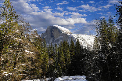Photograph - Half Dome In Winter by Bonnie Fink