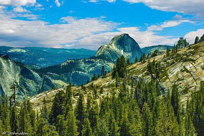 Half Dome Digital Art - Half Dome Yosemite National Park by Bob and Nadine Johnston