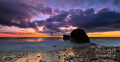 Peddle Photograph - Hallett Cove Sunset  by Bill  Robinson