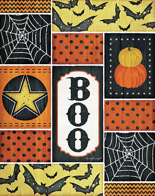 Painting - Halloween - Boo by Jennifer Pugh