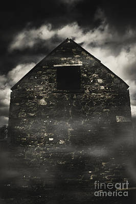 Haunted Houses Photograph - Halloween House Of Horrors. Scary Stone Building by Jorgo Photography - Wall Art Gallery