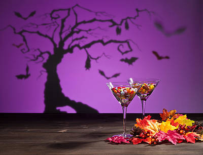 Martini Royalty-Free and Rights-Managed Images - Halloween landscape with sweets by U Schade
