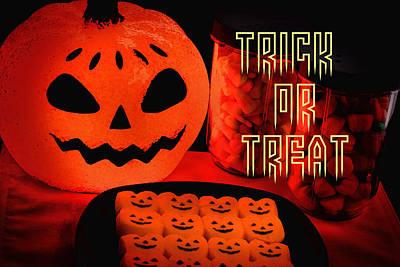 Candy Corn Digital Art - Halloween Trick Or Treat Candy by Vizual Studio