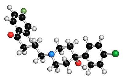 Molecule Photograph - Haloperidol Antipsychotic Drug Molecule by Molekuul