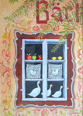 Painting - Halstatt Window by Mary Ellen Mueller Legault