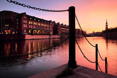 Photograph - Hamburg Sunset by Marc Huebner