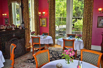Photograph - Hamilton-turner Inn Breakfast Room by Allen Beatty