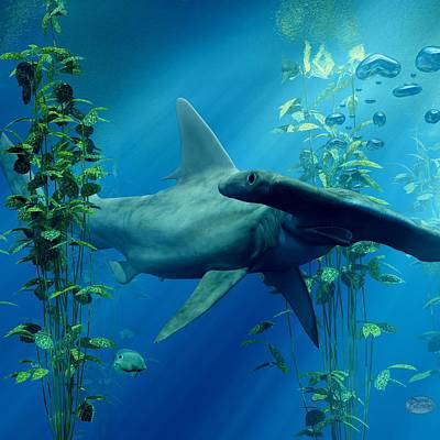 Digital Art - Hammerhead by Daniel Eskridge
