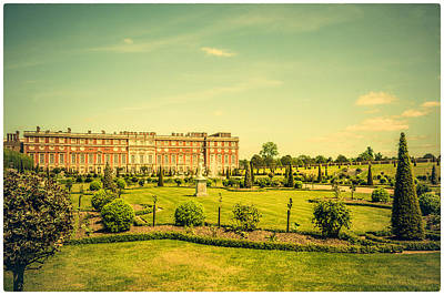 Photograph - Hampton Court Palace Gardens As Seen From The Knot Garden by Lenny Carter