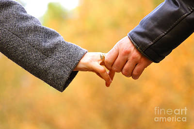 Couples Photograph - Hand-in-hand by Michal Bednarek