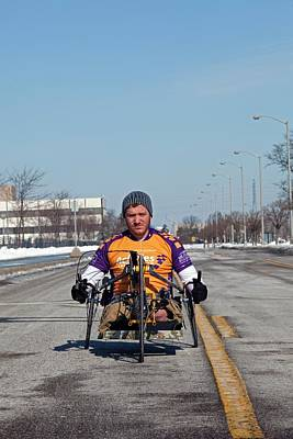 Amputee Photograph - Handcycle by Jim West