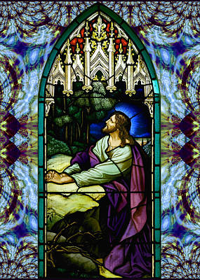 Digital Art - Handel Stained Glass by Robert Kernodle