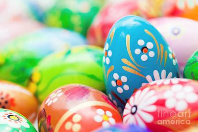 Celebration Photograph - Handmade Easter Eggs Collection by Michal Bednarek