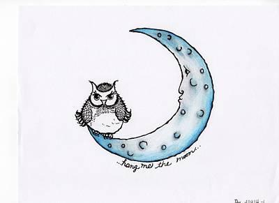 Hang Me The Moon Art Print