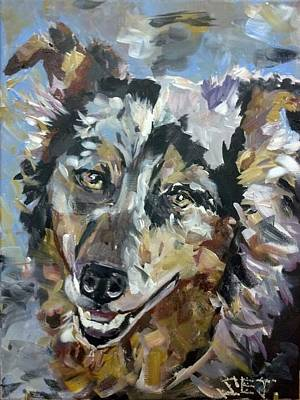 Blue Healer Painting - Hank by Susan E Jones