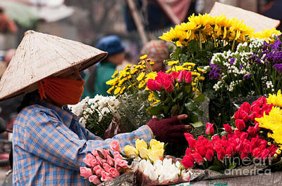 Photograph - Hanoi Flowers 03 by Rick Piper Photography