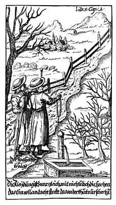 Fence Drawing - Hans Von Grimmelshausen (1622?-1676) by Granger