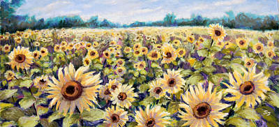 Pastel - Happiness Field by Susan Jenkins