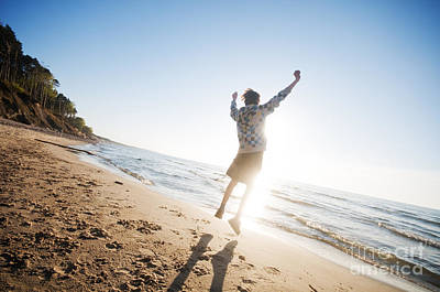 Freedom Photograph - Happiness In The Beach Scenery by Michal Bednarek