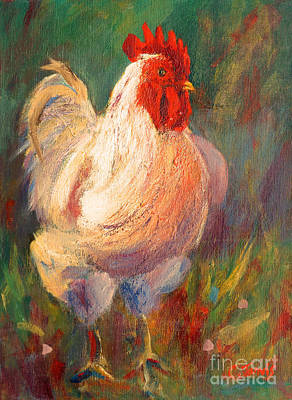 Painting - Happy Chicken by Carolyn Jarvis