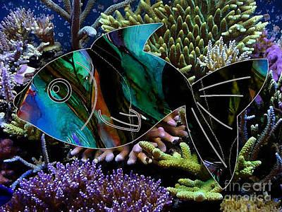 Fish Mixed Media - Happy Fish by Marvin Blaine