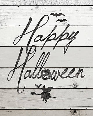 Halloween Sign Painting - Happy Halloween by Jo Moulton