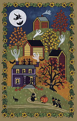 Halloween Painting - Happy Halloween by Medana Gabbard