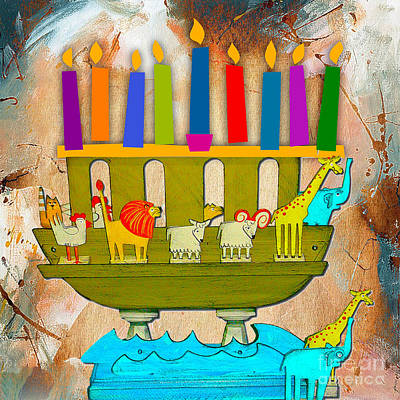 Mixed Media - Happy Hanukkah by Marvin Blaine