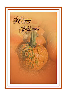 Pumpkins Painting - Happy Harvest by Ramona Murdock