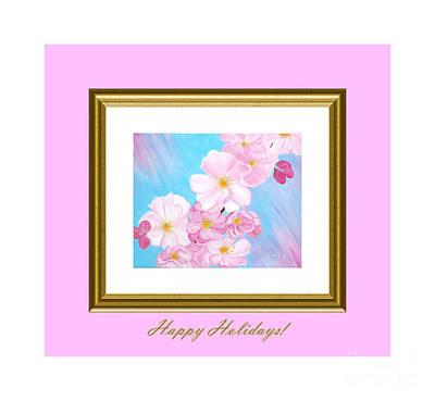 Digital Art - Happy Holidays. Cherry Blossom. by Oksana Semenchenko
