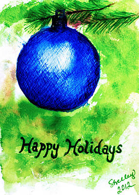 Painting - Happy Holidays by Shelley Bain