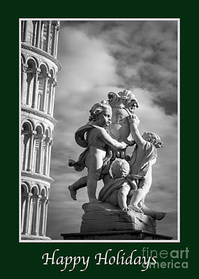 Photograph - Happy Holidays With Fountain Of Angels by Prints of Italy