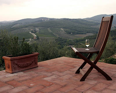 Photograph - Happy Hour In Tuscany by Bryan Davies
