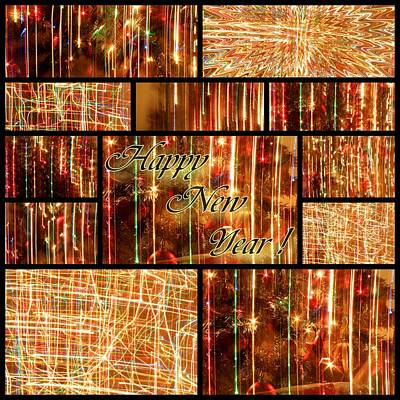 Happy New Year Collage  Art Print by Julia Fine Art And Photography