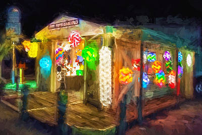 Photograph - Happy Pappys Glowing Balls St Augustine Painted  by Rich Franco