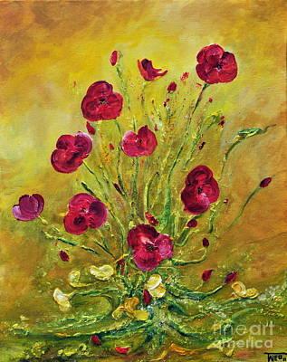 Texture Painting - Happy Poppies by Teresa Wegrzyn