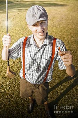 Happy The Golf Man Art Print by Jorgo Photography - Wall Art Gallery