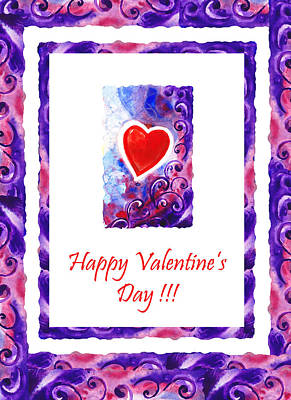 Creation Painting - Happy Valentines Day by Irina Sztukowski