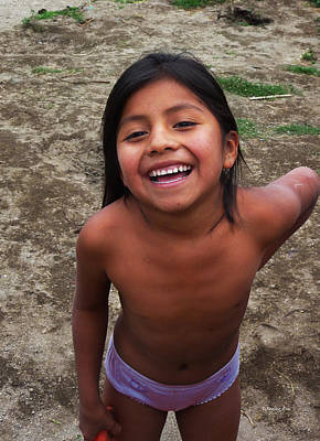Naked Kids Photograph - Happy Village Girl by Xueling Zou