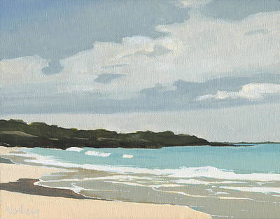 Haleiwa Painting - Hapuna Beach by Stacy Vosberg